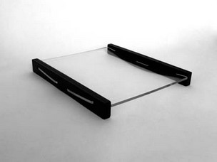 COD. PL104 - REDIRESTO IN PLEXIGLASS CON SUPPORTI LATERALI